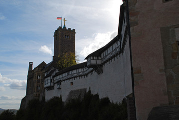 Wartburg in Eisenach, Thuringia, Germany, added to the World Heritage List in 1999, it was the place where Martin Luther translated the New Testament of the Bible into German