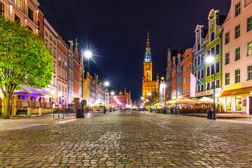 Dlugi Targ Square in Gdansk, Poland
