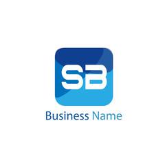 Initial Letter SB Logo template design