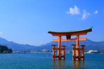 Fotorolgordijn Historisch geb. 広島、宮島、厳島神社