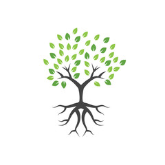 Tree graphic design template vector illustration isolated
