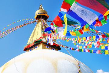 Boudhanath Stupa in Kathmandu valley, Nepal