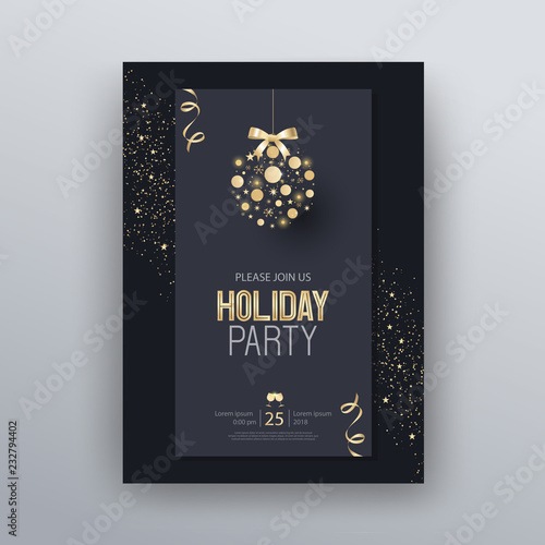 Vector Illustration Design For Holiday Party And Happy New Year