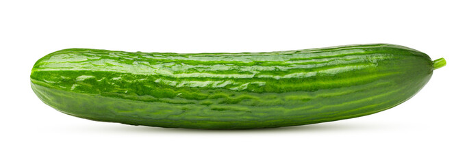 cucumber isolated on white background, clipping path, full depth of field Wall mural