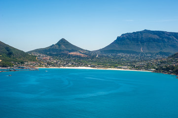 seaside and mountains in africa