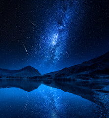 Fototapete - Milky way over milky way in District Lake, England