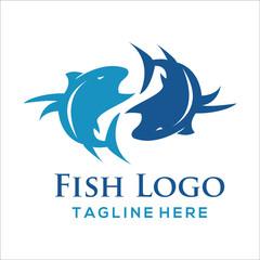 Fish logo design idea, Seafood restaurant