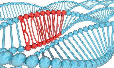 Biomarker DNA Strand Medical Research 3d Illustration
