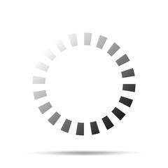 Loading icon. Vector illustration isolated on white background.