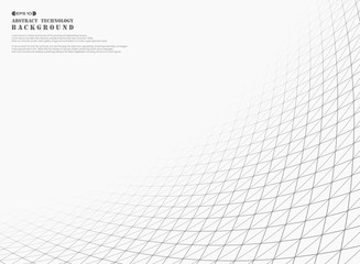 Abstract strip line of square geometric pattern background.
