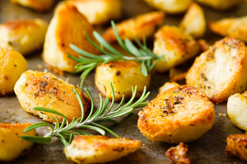 rustic golden english roasted duck fat potatoes