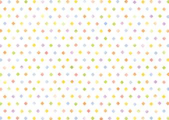 水彩風カラフルな四角いドットの背景