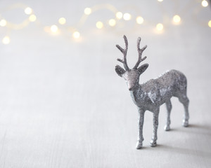 Christmas background with sparkle deer