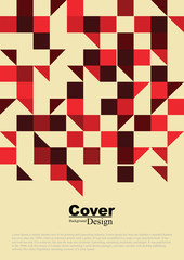 Cover Design with Geometric Texture