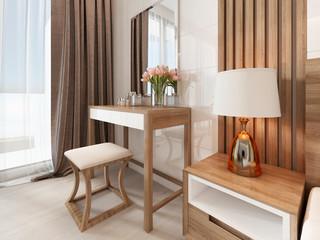 Dressing table mirror bedroom scandinavian style.