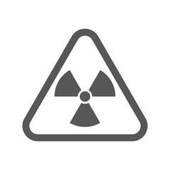 Radioactive symbol, icon. Vector illustration in flat design isolated on white background.