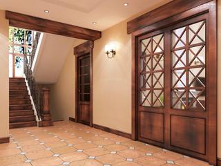 modern hall-corridor in English style.