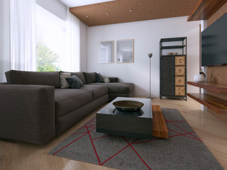 Modern interior of the studio in the style of Contemporary.