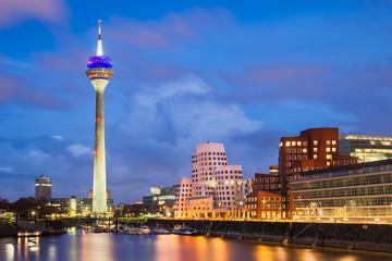 Spoed Foto op Canvas Europa Medienhafen in Düsseldorf, Deutschland