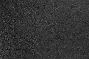 Black smooth asphalt road texture background top view Wall mural
