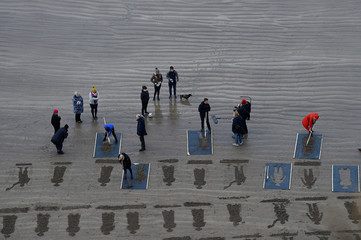 Danny Boyle's Pages of The Sea celebrations, on Downhill Beach in Coleraine