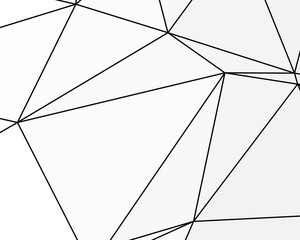 Asymmetrical texture with random chaotic lines, abstract geometric pattern. Black and white vector illustration