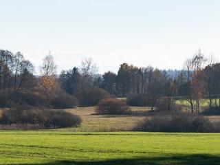 Bayrische Landschaft im Herbst