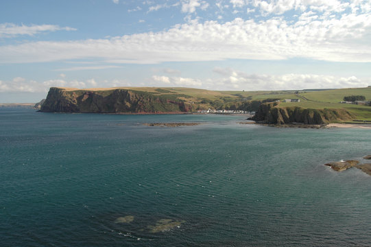 North Sea and Aberdeenshire coastline, Scotland
