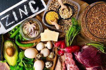 Foods High in Zinc Top view