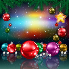 Christmas greeting with decorations