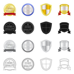 Isolated object of emblem and badge sign. Collection of emblem and sticker stock symbol for web.