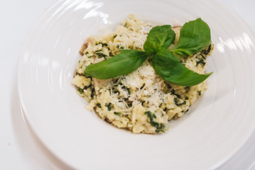 Risotto dish in a restaurant