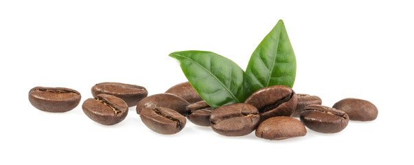 Keuken foto achterwand Cafe Coffee beans isolated on white background