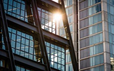 Sun reflection off window