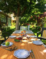 Happy Breakfast at Garden