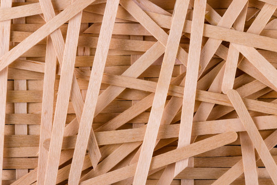 wood texture. wooden sticks are stacked together background. ice cream stick