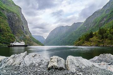 Gudvangen, Ursprung des Nærøyfjord