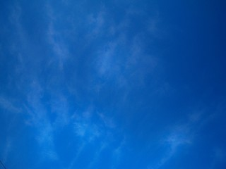 beautiful blue summer sky with light clouds