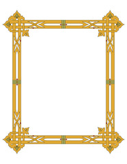 Old World Borders Vector - Tiled frame in plant leaves and flowers Framework decorated Elegant style