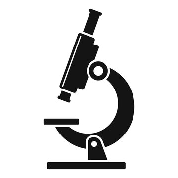Biology microscope icon. Simple illustration of biology microscope vector icon for web design isolated on white background