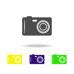camera multicolored icons. Element of beach holidays multicolored icons can be used for web, logo, mobile app, UI, UX
