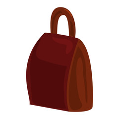 Brown backpack icon. Cartoon of brown backpack vector icon for web design isolated on white background