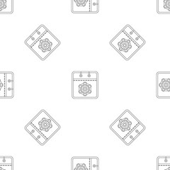 Winter calendar pattern seamless vector repeat geometric for any web design