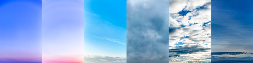 Collage of sky photos