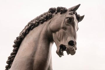 Horse statue, designed by Leonardo da Vinci, in Milan, Italy.