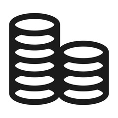 Coin stack icon. Simple illustration of coin stack vector icon for web design isolated on white background