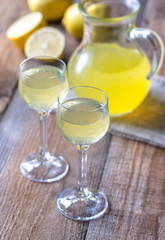 Two glasses of limoncello