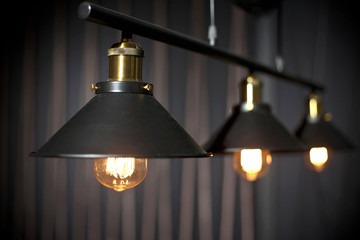 Line of industrial retro bulbs