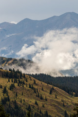 Fog on Whetstone Mountain near Crested Butte in Colorado Rockies