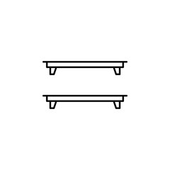 shelf, shelves, interior outline icon. Signs and symbols outline icon can be used for web, logo, mobile app, UI, UX